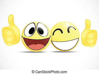 Emoticon with thumb .business comme