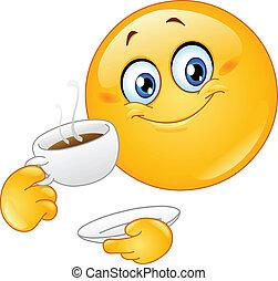 emoticon, zrnková káva
