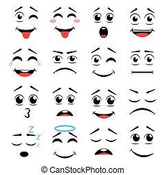 emoticons., セット, 別
