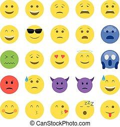 emoticons, セット