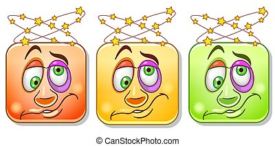 emoticons, 目がくらむようである, コレクション
