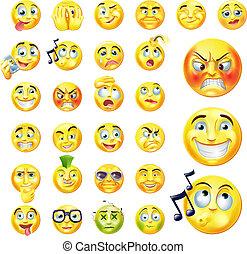Emoticons - A set of very original emoticon or emoji icons ...