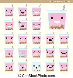 emoticons, boba