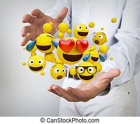 emoticons concept