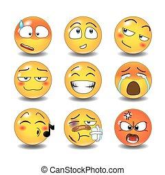 emoticons, conjunto