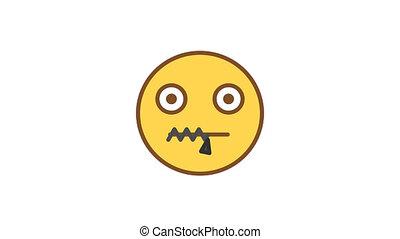 emoticons., emoticon, much., vaart, alfa, niet, geanimeerd, ...