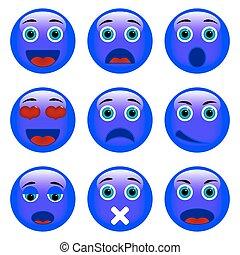 emoticons., ensemble, emoji