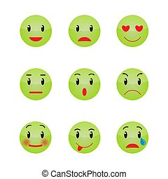 Emoticons face isolated on white