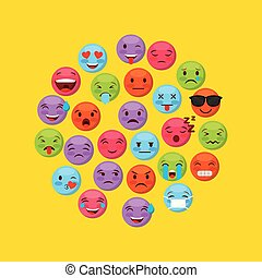 emoticons faces design