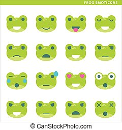 emoticons, grenouille