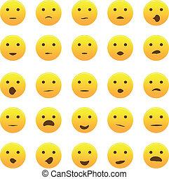 emoticons, komplet, ikona