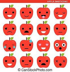 emoticons, pomme