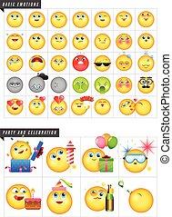 emoticons,  set,  42