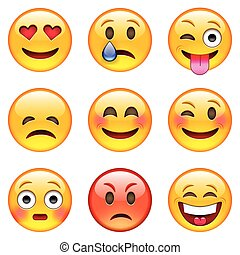emoticons, set