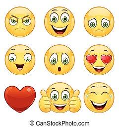 Emoticons set, vector.