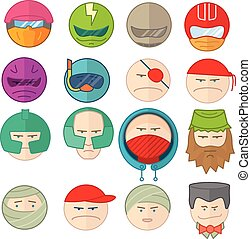Emoticons smile vector illustration