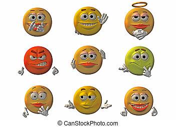 emoticons, smileys, -