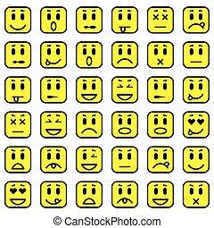 emoticons, squadra triangolo