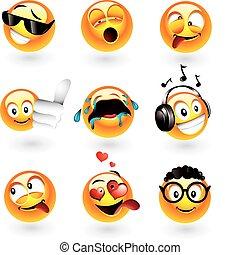 emoticons, verschieden