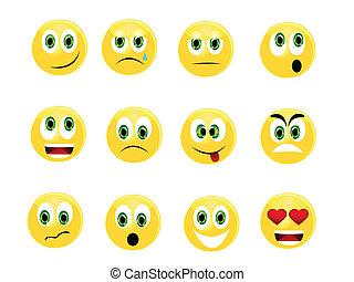 Yellow emoticons