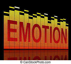 Emotion concept. - Illustration depicting graphic equalizer...
