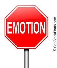 Emotion concept. - Illustration depicting a sign with an...