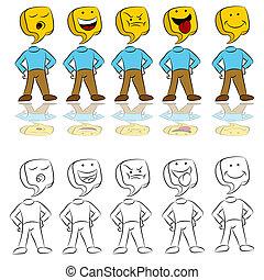 Emotion Expressions Icon Man