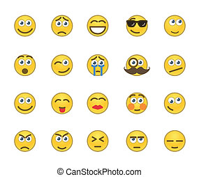 Emotion icons - Set of 20 emotion related icons.