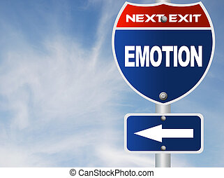 Emotion road sign