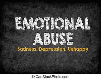 Emotional Abuse concept. Sadness Depression Unhappy. Black ...