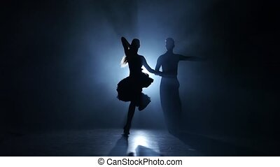 Emotional and graceful latina dance performed by champions, smoky studio