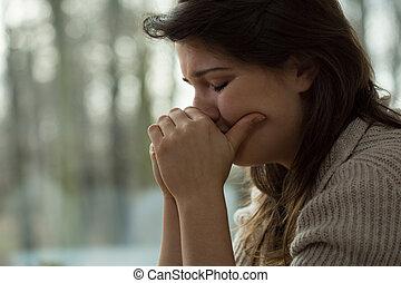 Emotional breakdown - Young woman with emotional breakdown