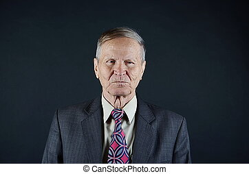 Emotional businessman portrait
