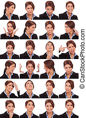 emotional collage of a businesswoman's faces - Collage of ...
