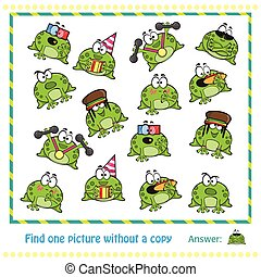 Emotional cute frogs Cartoon character - game for children