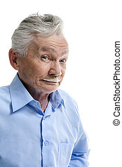 Emotional elderly man