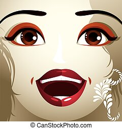 Emotional expression of girl