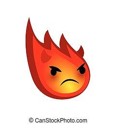 Emotional faces evil devi red comet emoji smile