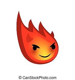 Emotional faces fun comet evil devil emoji smile