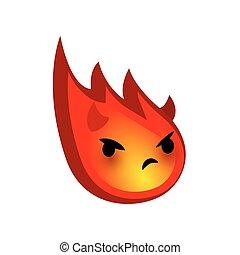 Emotional faces red comet evil devil emoji smile