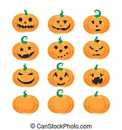 Emotional Halloween pumpkins - Halloween emotional pumpkins...