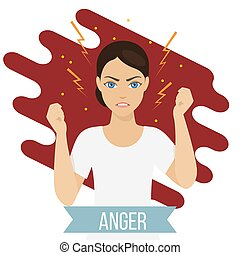 Emotional health concept - Woman suffers from stress and...
