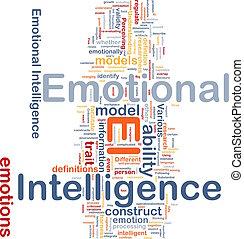 Emotional intelligence background concept - Background...
