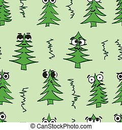 Emotional seamless fir-trees