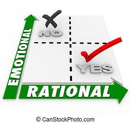Emotional Vs Rational Choice Decision Making Best Option Alternative Matrix