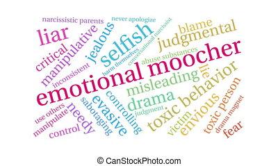 emotional, wort, moocher, wolke