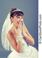 emotional young bride