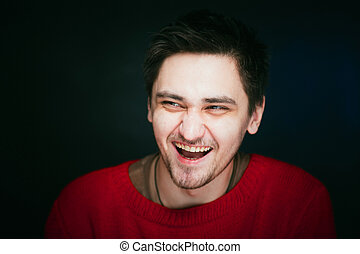 emotional young man photo in studio