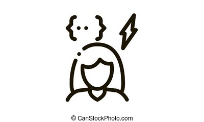 emotionally unstable woman Icon Animation. black emotionally unstable woman animated icon on white background