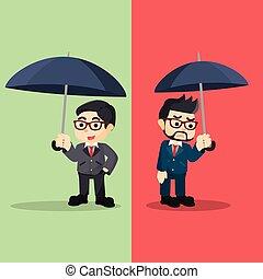 emotioneel, anders, zakenmens